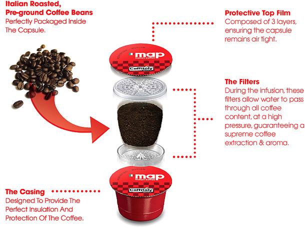 map coffee machine